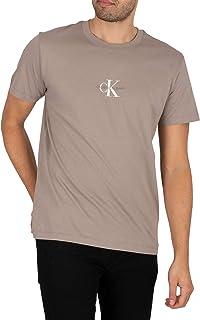 Calvin Klein Jeans Men's Small Chest Monogram T-Shirt, Grey, M