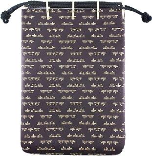 印伝 合切袋 巾着袋 菖蒲柄 ボルドー 紫 白漆