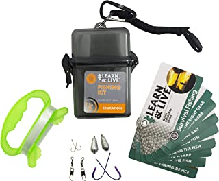 UST Learn & Live Outdoor Educational Kits with Waterproof Cards, Tools and Watertight Case for Hiking, Camping, Backpackin...
