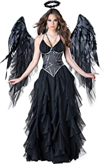 Disfraz ángel negro mujer Premium - M