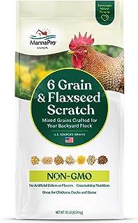 Manna Pro 6 Grain and Flaxseed Scratch | Non-GMO | 10 LB
