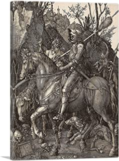 ARTCANVAS Knight, Death and The Devil Canvas Art Print by Albrecht Durer - 12