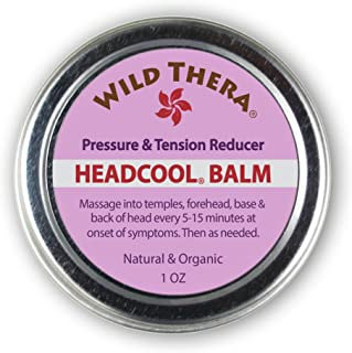 Wild Thera Herbal Migraine Headache Relief Balm with Essential Oils. Sinus Tension Headache Soother. Safely...