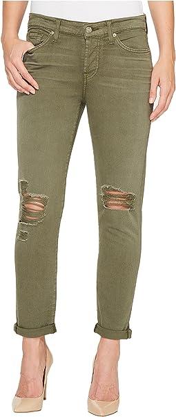 Josefina Jeans w/ Destroy in Olive