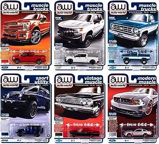 Autoworld Muscle Cars Premium 2020 Set B of 6 Pieces Release 3 1/64 Diecast Model Cars by Autoworld 64262 B