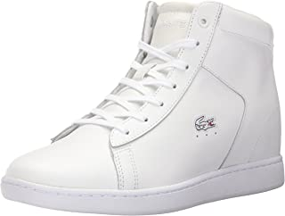 Lacoste Women's Carnaby Evo Wedge 317 3 Fashion Sneaker, White, 9.5 M US