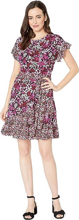 Mod Garden Ruffle Wrap Dress