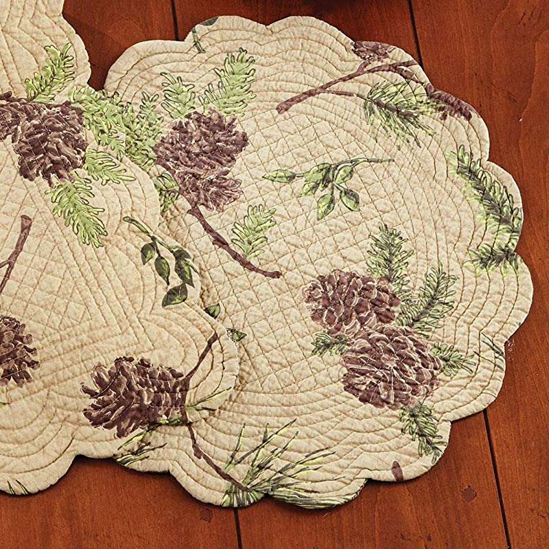 BLACK FOREST DECOR Pinecone Valley Round Placemat