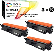 TG Imaging Compatible 94X CF294X Toner Cartridge (Black, 3-Pack), for HP Laserjet Pro M118 MFP M148 Printer