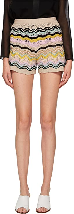 M Missoni - Wave Crochet Shorts