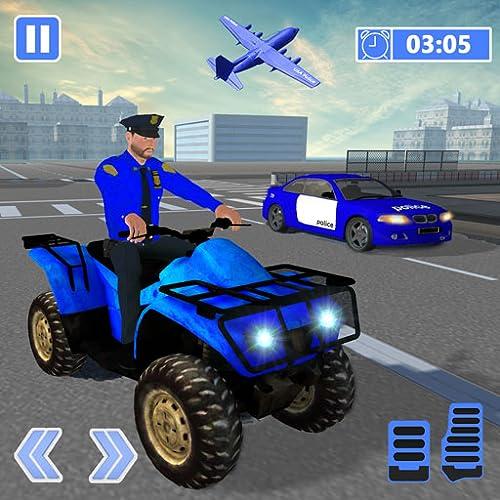 US-Polizei-Limousinenauto: ATV Quad Transporter Game
