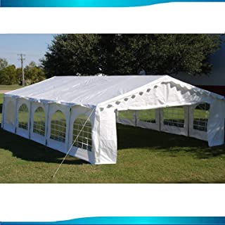 Delta 32'x16' Budget PE Party Tent Canopy Shelter White Canopies