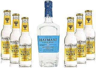 Haymans Dry Gin London 0,7l 41,2% Vol  6x Fever Tree Premium Indian Tonic Water 200ml Spirituose Bar Cocktail Longdrink Gin tonic- Enthält Sulfite - Inkl. Pfand MEHRWEG