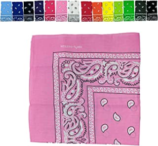 Bandana Paisley 100% Cotton Head Wrap Durag Biker Scarf Face Mask