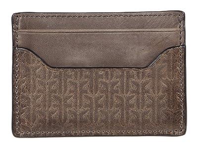 Frye Austin Money Clip Card Case Boxed (Dark Grey) Bags