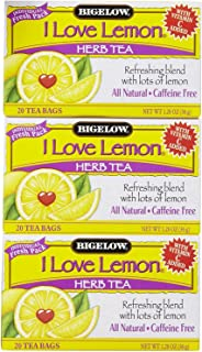 Bigelow I Love Lemon Tea Bags - 20 ct - 3 pk