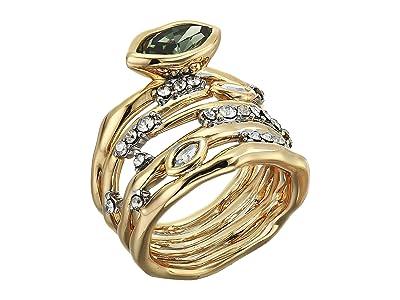 Alexis Bittar Navette Crystal Layered Ring (10K Gold/Rhodium) Ring