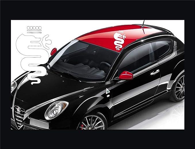 Aufkleber Für Alfa Romeo Mito Giulietta 147 1 Aufkleber Tuning Auto Scanner Subito Colore Car Pegatina Code 0486 Arancione Cod 035 Sport Freizeit