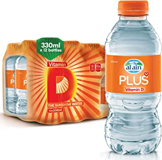 Al Ain Plus Drinking Water with Added Vitamins D - 330 ml (Pack of 12)