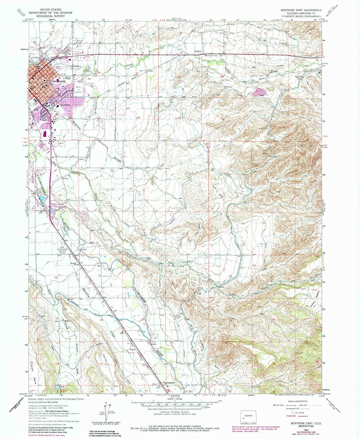 Montpink East CO topo map, 1 24000 Scale, 7.5 X 7.5 Minute, Historical, 1962, Updated 1984, 26.8 x 22 in