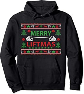 Merry Liftmas Ugly Christmas sweater Gym Workout Pullover Hoodie