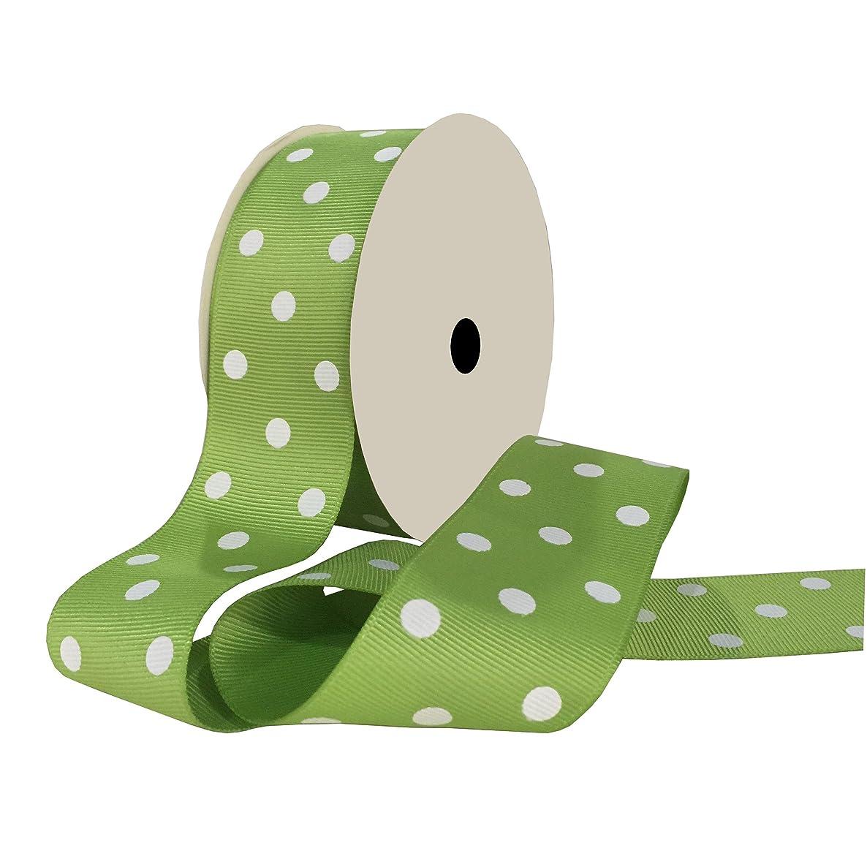 Duoqu Green Polka Dot Grosgrain Ribbon 10 Yards 1-1/2 Inch