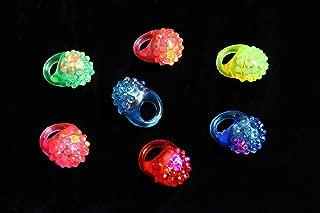 48pcs Light Up Rings Kids gift stuffers, Party Favor Ring Novelty Glow Jelly Blinking Bulk