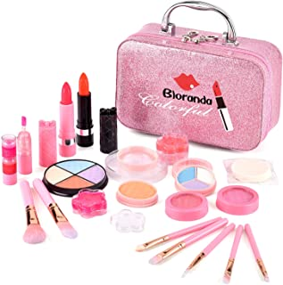 Real Makeup Toy for Girls,Safe & Non-Toxic Washable Cosmetics with Box for Party Game Halloween Christmas Birthday
