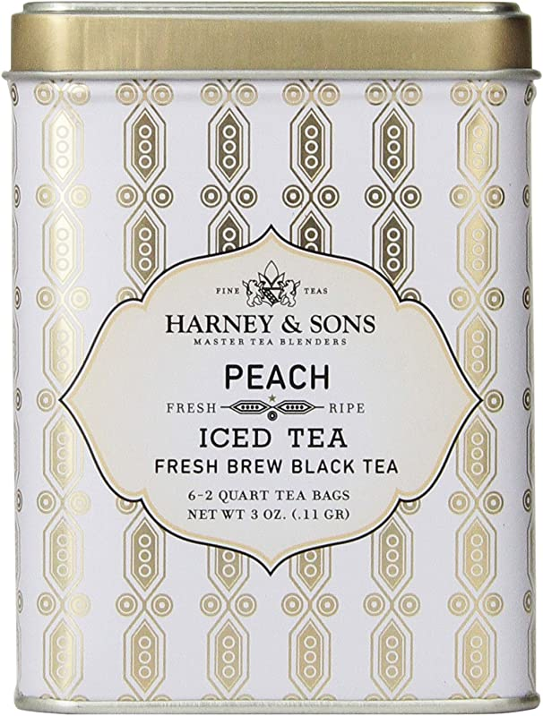 Harney Sons Black Iced Tea Peach 6 Tea Bags