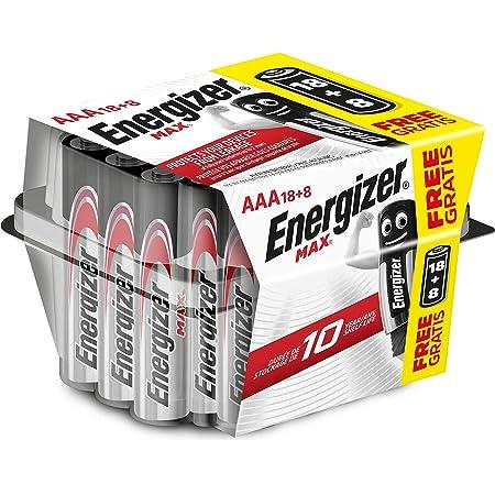 Energizer Alkaline Max - Pack de 26, Alcalinas MAX AAA