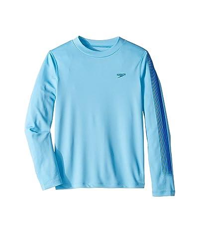 Speedo Kids Zip Zing Logo Long Sleeve Swim Tee (Little Kids/Big Kids) (Ethereal Blue) Boy