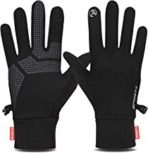 Yobenki Touch Screen Gloves, Winter Gloves for Men Women Lightweight Mens Gloves Skin Fabric Running Gloves Sports Gloves Perfect for Cycling Climbing Hiking