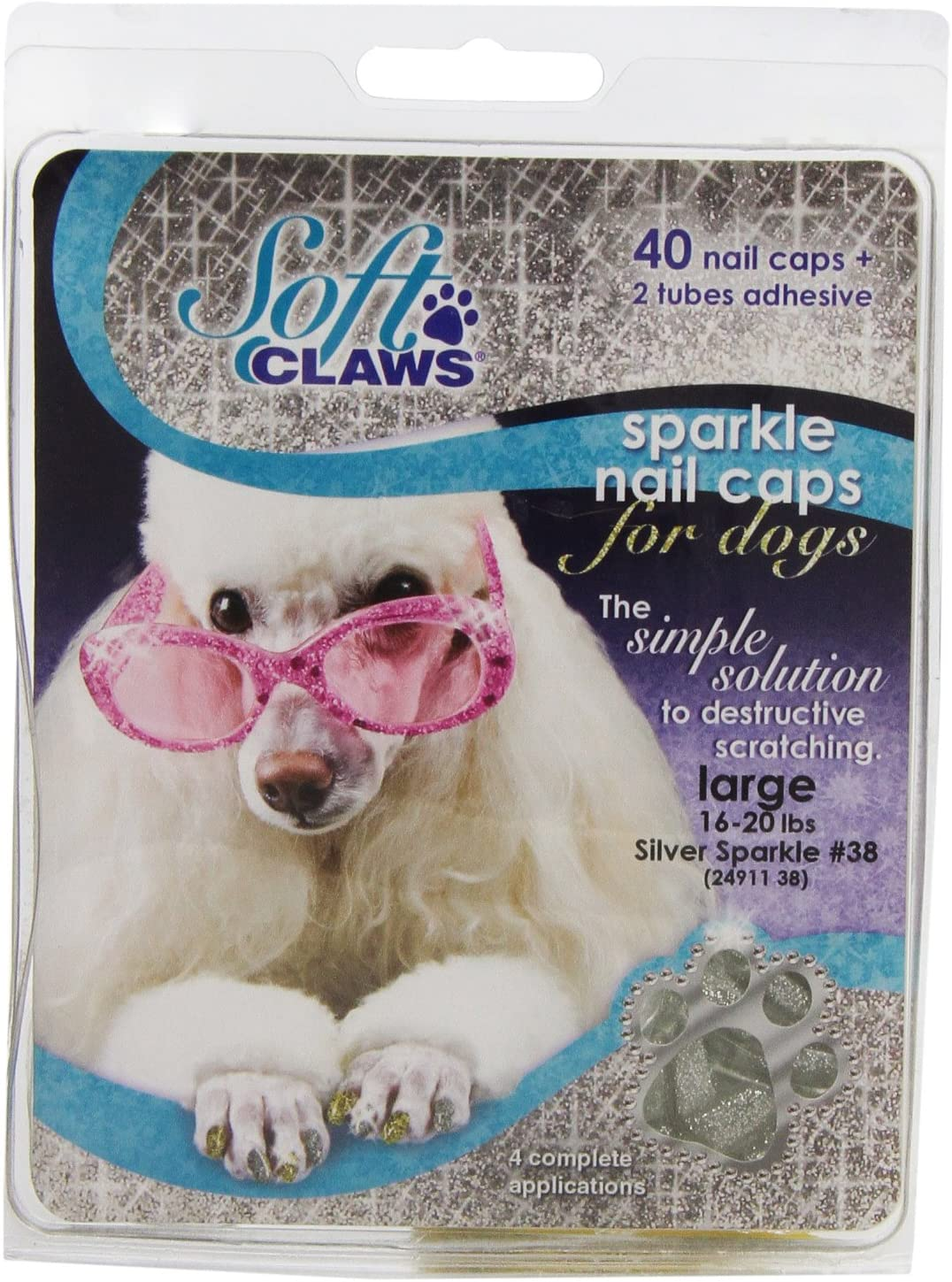 Soft Claws Dog and Cat Many popular Great interest brands Nail Caps Kit Take Home Sparkle Large S