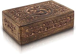 Great Birthday Gift Ideas Handmade Decorative Wooden Jewelry Box Jewelry Organizer Keepsake Box Treasure Chest Trinket Hol...