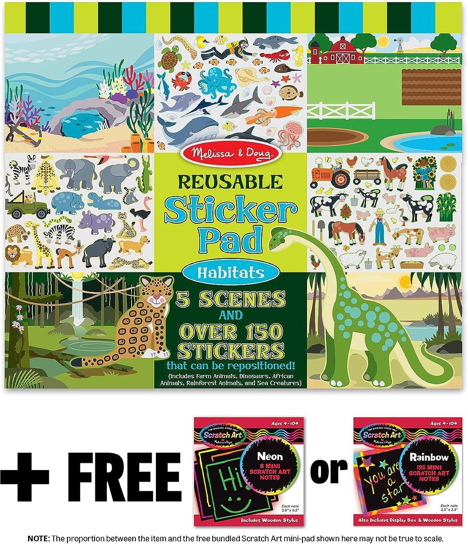 Habitats  Reusable Sticker Pad  FREE Melissa & Doug Scratch Art Mini-Pad Bundle [41966] B01AVN1RM0  | Attraktive Mode