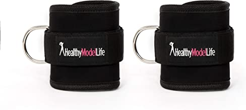 HEALTHYMODELLIFE Healthy Model Life Ankle Straps Maximize Cable Machine Workouts with Durable Cuffs for Ab, Leg & Glute Exercises - First Rate Fitness Equipment for Women & Men