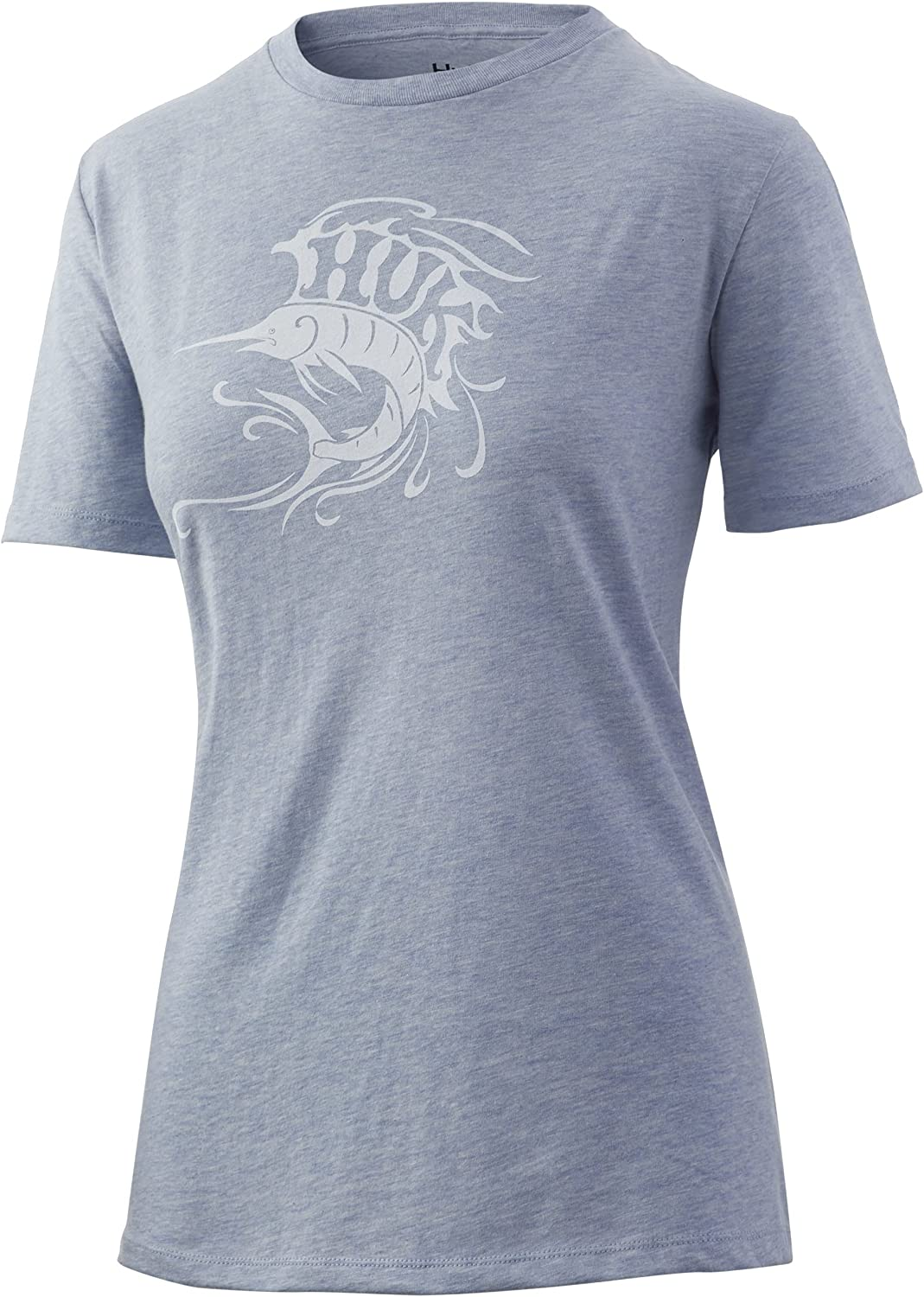 HUK Women's V Neck Tee Ladies At the price of surprise 30+ UPF Protect T-Shirt unisex with Sun