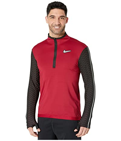 Nike Wild Run Element Top Long Sleeve (Noble Red/Laser Crimson/Reflective Silver) Men