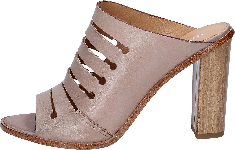 NAPOLEONI Sandals Womens Leather Beige