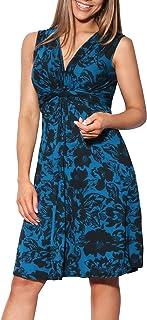KRISP - Vestido para mujer, diseño de flores