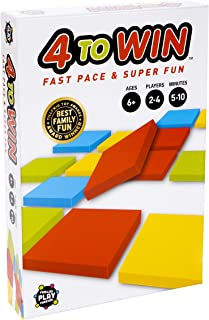 4 to Win | Families Play Forever - Fast and Fun Strategy Game for Families, Kids, and Adults. Connect 4 in-A-Row Tile Game...