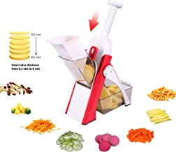 ONCE FOR ALL Onion Food Chopper Vegetable Slicer Dicer Fruits Slicer Manual Mandoline Slicer Kitchen Stainless Steel Peeler Veggie Chopper Manual Slicer For Veggie Salad Garlic Potato Cabbage Carrot easy pull quick slicer