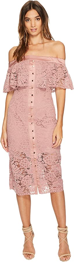 KEEPSAKE THE LABEL - Star Crossed Lace Midi Dress
