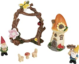 Juvale Fairy Garden Accessories Kit - 7-Piece Miniature Gnome and Mushroom Figurines, Decorative Set for Lawn, Outdoor, Backyard, Front Patio, Home Decoration, Housewarming, Wedding Gift