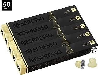 Nespresso Vanilio OriginalLine Capsules, 50 Count Espresso Pods, Medium Roast Intensity 6 Blend, South & Central American Arabica Coffee Flavors