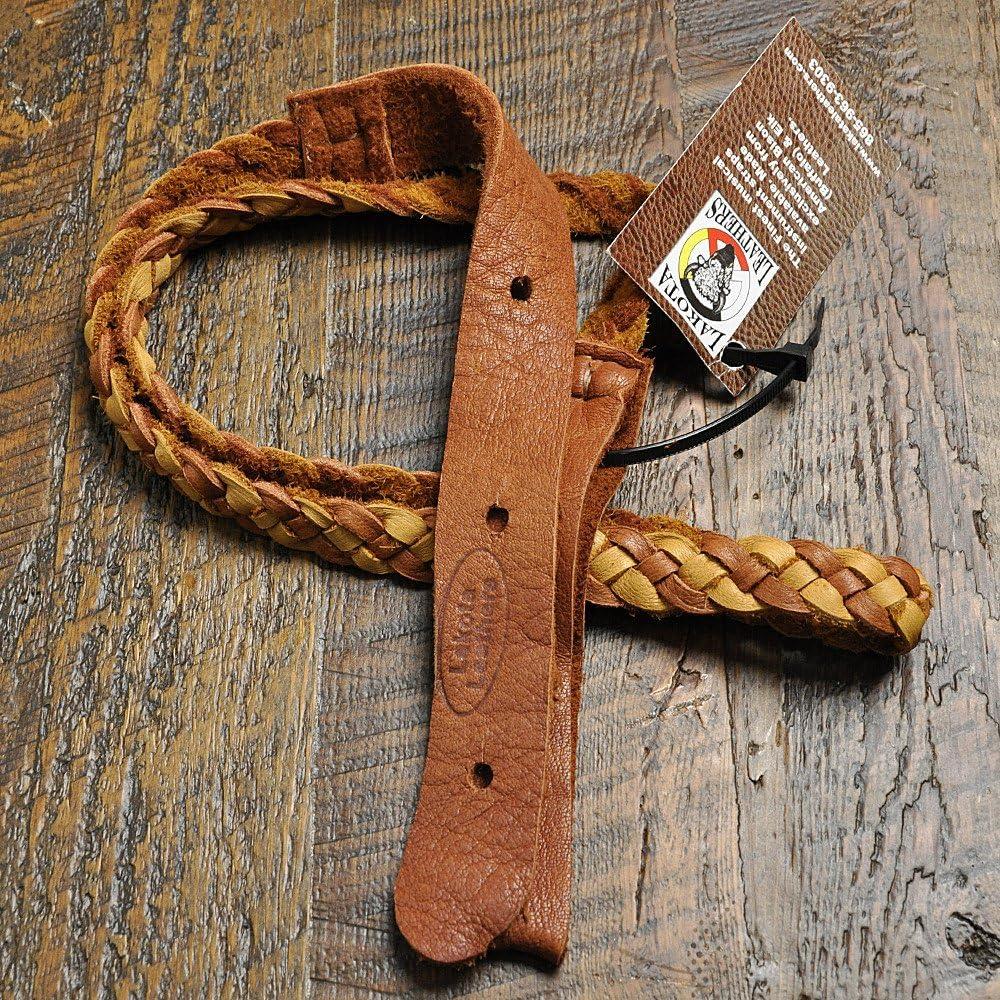 Lakota Leathers Mandolin Strap Regular store Flat Tobacco Tan Inch Braid Indefinitely 43