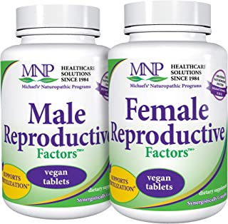Michael's Naturopathic Programs Couples Pack - 120 Vegan Tablets - Male & Female Reproductive Factors Bundle, Nutrients fo...