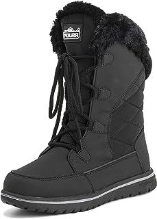 Polar Womens Warm Duck Winter Rain Fleece Snow Waterproof Mid Calf Boots
