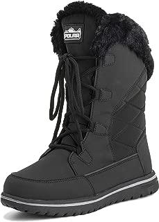 Womens Warm Duck Winter Rain Fleece Snow Waterproof Mid Calf Boots