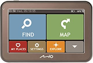 Mio Spirit 5100 GPS-navigatiesysteem, 10,9 cm (4,3 inch), 480 x 272 pixels, MicroSD (TransFlash), 800 MHz) (R. voorbereid)